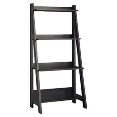 Bush Alamosa Ladder Bookcase in Classic Black