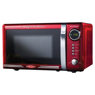 <strong>Nostalgia Electrics</strong> 0.7 Cu. Ft. 700 Watt Retro Series Microwave Oven