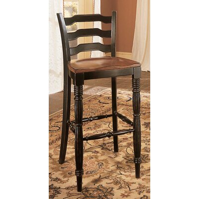 Hooker Furniture Indigo Creek Pub Table and Bar Stool Set in Black
