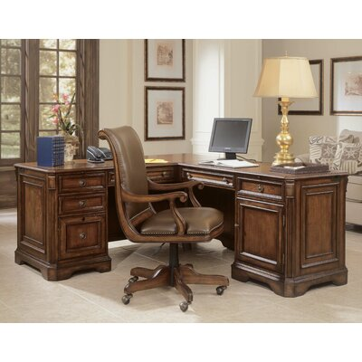 Hooker Furniture High-Back Swivel Office Chair with Arms