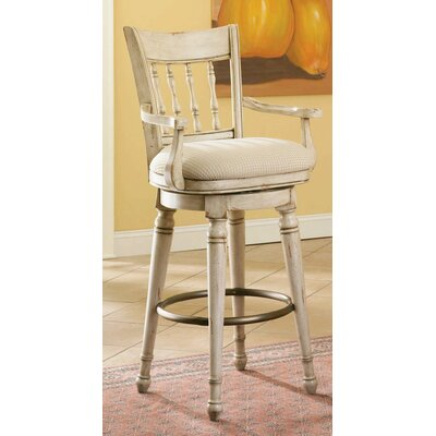 "Hooker Furniture Summerglen 33"" Swivel Bar Stool with Cushion"