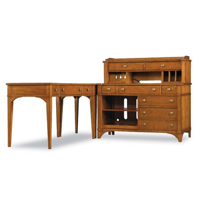 Hooker Furniture Abbott Place Credenza Printer Unit in Clear Natural Cherry