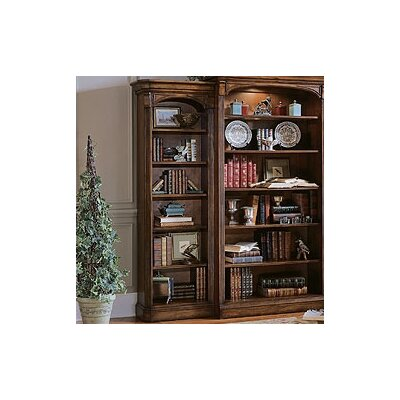Hooker Furniture Brookhaven Left Hand Bookcase in Medium Clear Cherry