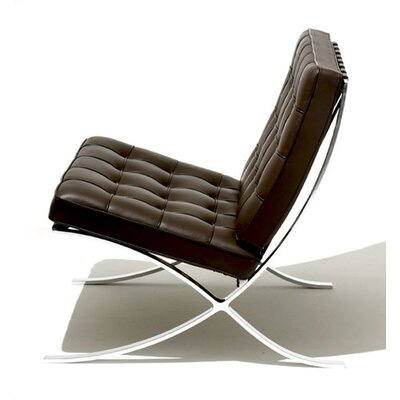 Knoll ® Barcelona® Lounge Chair and Optional Stool
