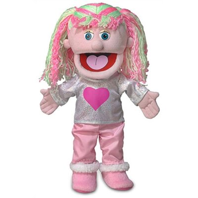 """Silly Puppets 14"""" Kimmie Glove Puppet in Pink"""