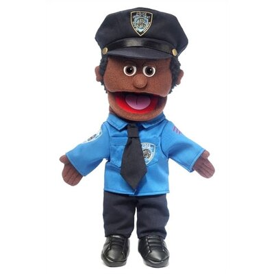 "Silly Puppets 14"" African-American Policeman Glove Puppet"