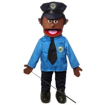 "Silly Puppets 25"" African American Policeman Full Body Puppet"