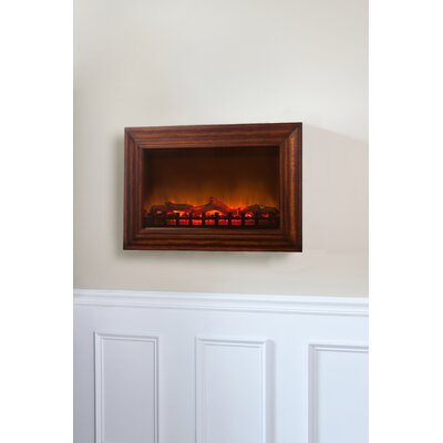 Fire Sense Wood Wall Mounted Electric Fireplace