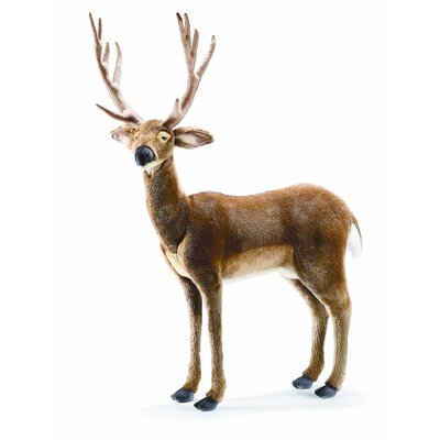 Hansa Toys Ride-On White Tail Deer Stuffed Animal