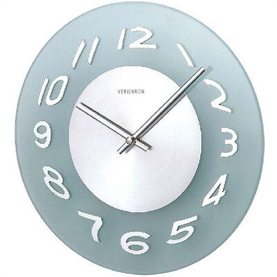 Verichron World Time Glass Wall Clock in Aluminum