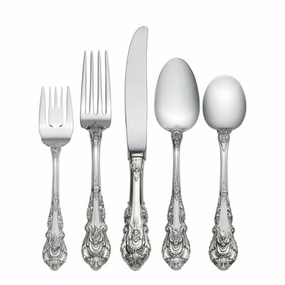 Wallace Sir Christopher 5 Piece Flatware Set with Dessert Spoon