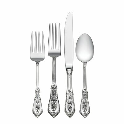 Rose Point 4 Piece Flatware Set