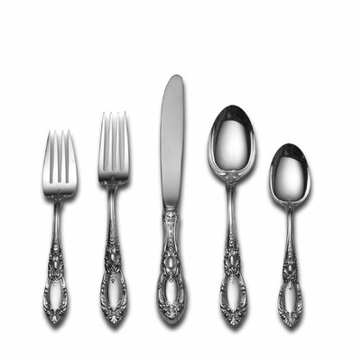 Towle Silversmiths King Richard 5 Piece Dinner Flatware Set with Place Spoon and Old Style Blade