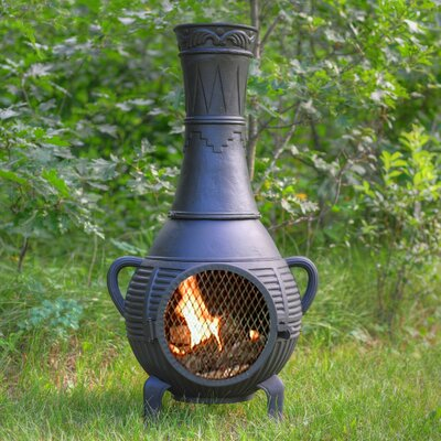 The Blue Rooster Pine Style Chiminea