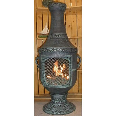 The Blue Rooster Venetian Style Chiminea with Gas Kit