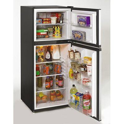 9.9 Cubic Ft. Frost Free Refrigerator in Black w/ Platinum Door