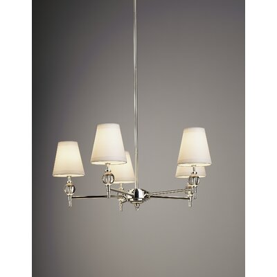 Robert Abbey Muses Thalia 5 Light Chandelier