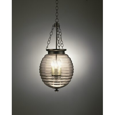 Robert Abbey Beehive 3 Light Foyer Pendant