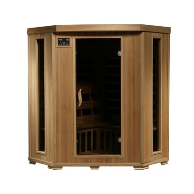 3-Person Corner Carbon Infrared Sauna