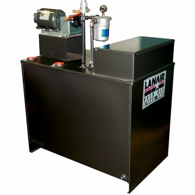 Lanair Products, LLC MX-Series 300,000 BTU Waste Oil Heater with Roof Chimney and 80 gal Tank