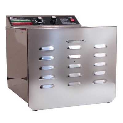 "TSM Products D10 Stainless Steel Dehydrator with 0.25"" Spacing Shelves"