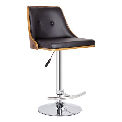 Creative Images International Adjustable Bar Stool with Cushion