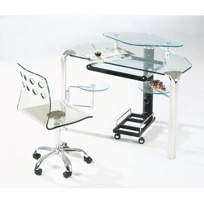 Creative Images International Glass Corner Computer Desk
