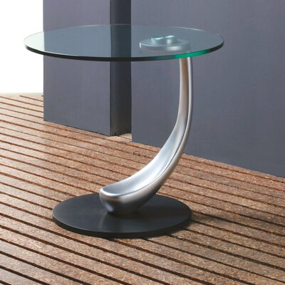 Creative Images International Glass Top End Table