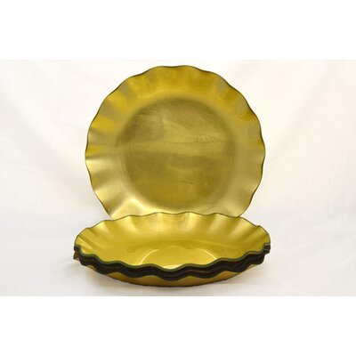 "Tango Tango Precious Metal Glass 11"" Dinner Plate"