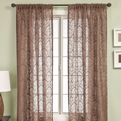 Softline Home Fashions Badi Medallion Rod Pocket Curtain Single Panel