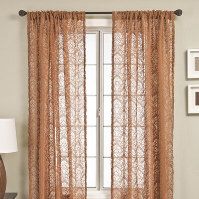 Softline Home Fashions Badi Medallion Rod Pocket Panel in Copper
