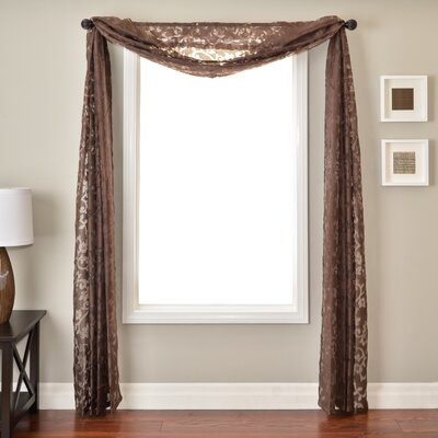 Softline Home Fashions Badi Scroll 6 Yard Scarf in Chocolate