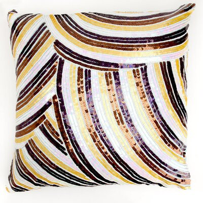 Debage Inc. Mother of Pearl Pillow in Multi Gold Stripe