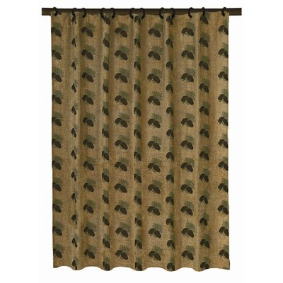 HiEnd Accents Pine Cones Polyester Shower Curtain