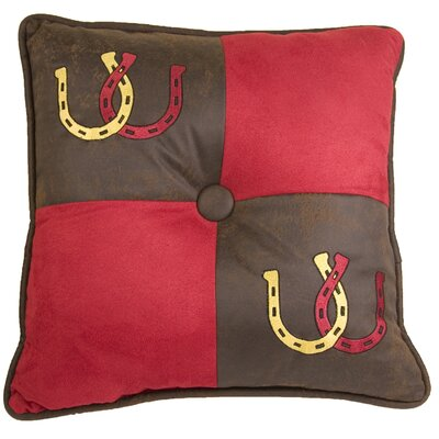 HiEnd Accents Tahoe Horse Shoes Polyester Pillow