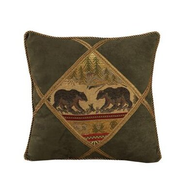 HiEnd Accents Bear Diamond Shape Polyester Pillow