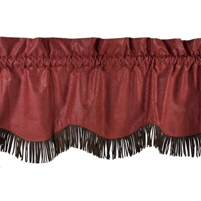 HiEnd Accents Cheyenne Rod Pocket Scalloped Fringed Valance
