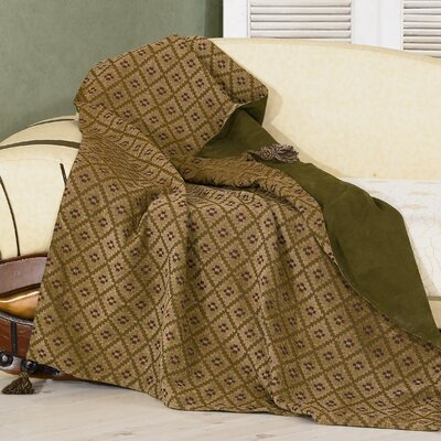 Pine Reversible Chenille Polyester Throw