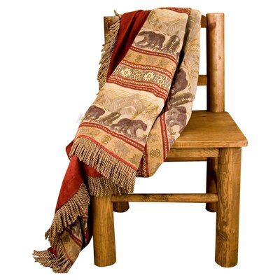 Bear Reversible Polyester Throw