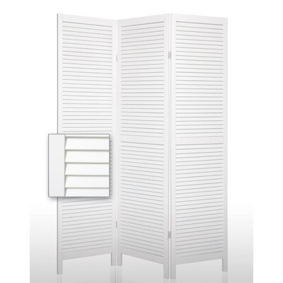 Shutter Accordion Room Divider in White