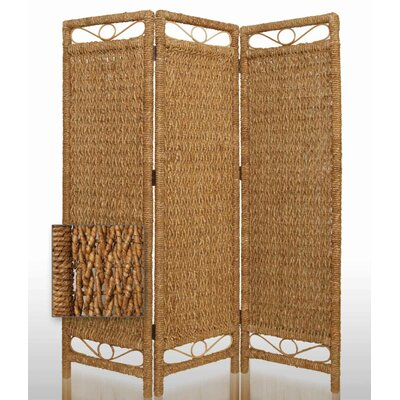 Screen Gems Cascading Palm Bark Folding Room Divider in Tan