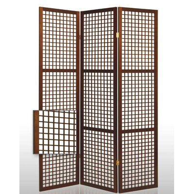 Eternal Squares Folding Room Divider in Brown