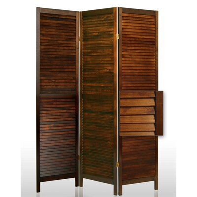 Screen Gems Shutter Accordion Room Divider in Brown