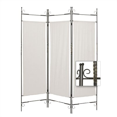 Iron Canvas Folding Room Divider
