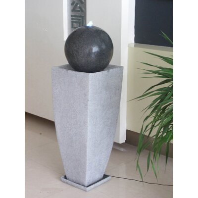 Screen Gems Long Square Planter with Ball Fountain