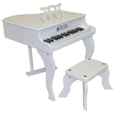 Schoenhut Fancy Baby Grand Piano in White