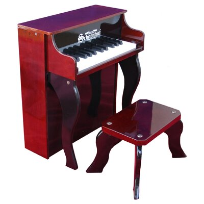 Schoenhut 25 Key Elite Spinet Piano in Mahogany / Black