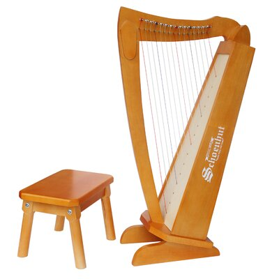 Schoenhut 15 String Harp in Cherry