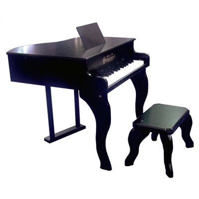 Schoenhut 30 Key Fancy Baby Grand in Black