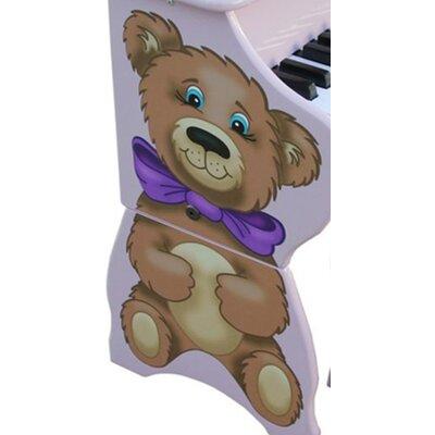 Schoenhut 25 Key Teddy Bear Piano & Bench in Lavender